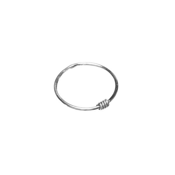 Zilveren ring twisted silver Xzota
