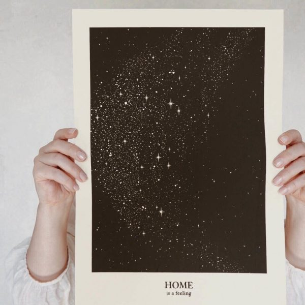 Home is a Feeling a3 print Anna Cosma