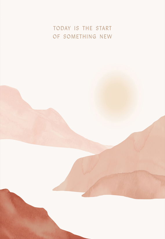 Anna Cosma poster Today is the Start of Something New print illustratie