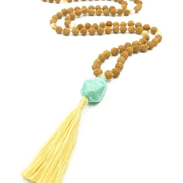 mala spirit independence mala ketting amazoniet citrien