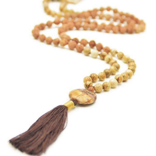 mala spirit self creation mala ketting luipaard jaspis