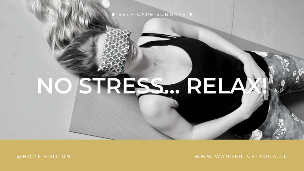Self-care sundays @home no stress relax me-time online yoga